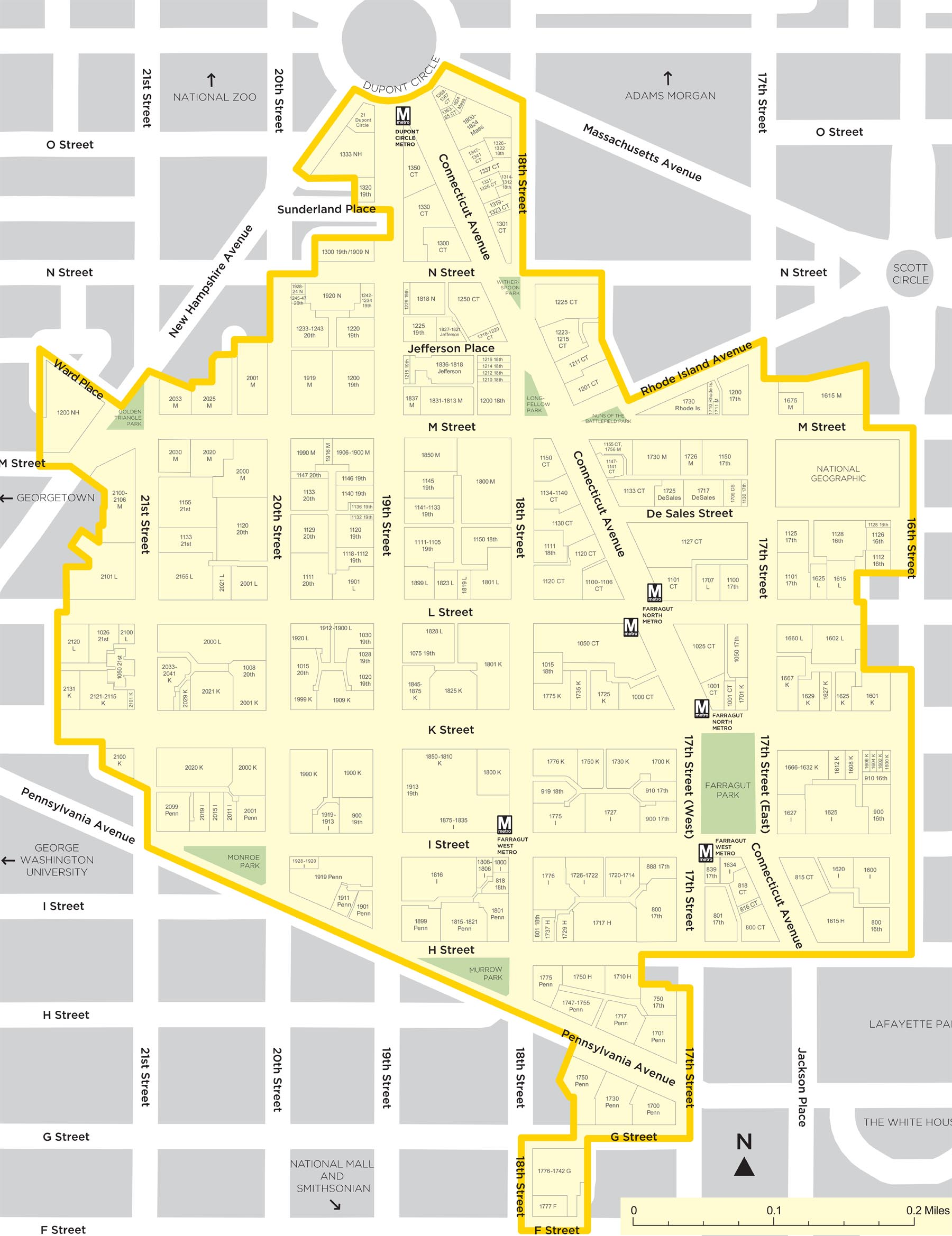 About Us Golden Triangle - Washington dc map of sites