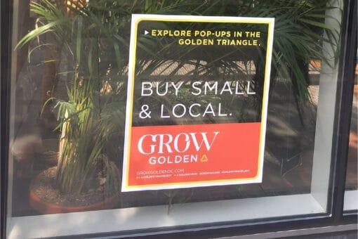 grow golden window decal spice girlin